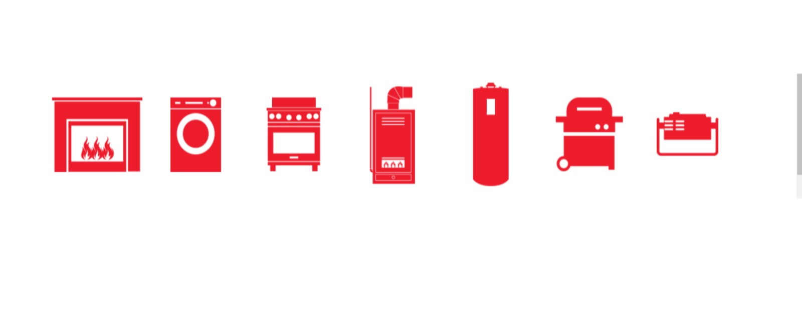Icons of fuel burning appliances